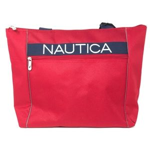 Nautica Boat Tote Luggage Bag Hayes Red NWT $120